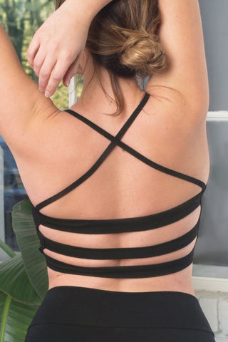 Organic Cotton Strappy Back Bralette