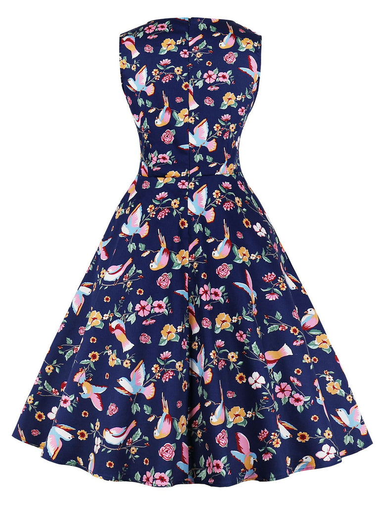 Robe Swing Années 50 Florale