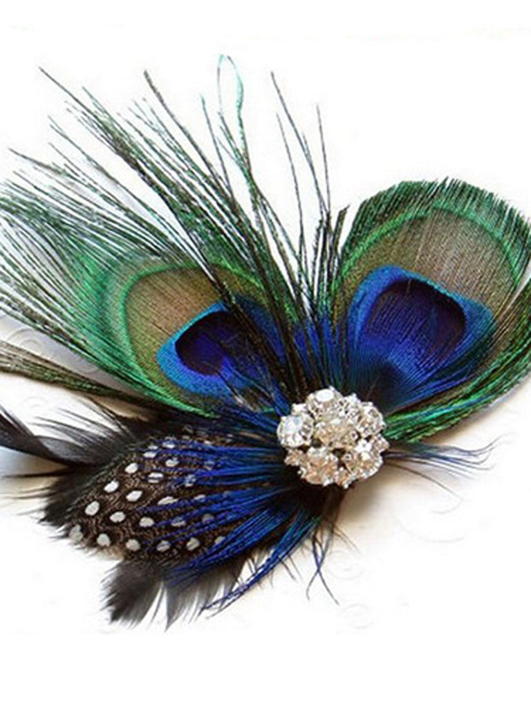 1920s Pince à Cheveux Strass Fascinator
