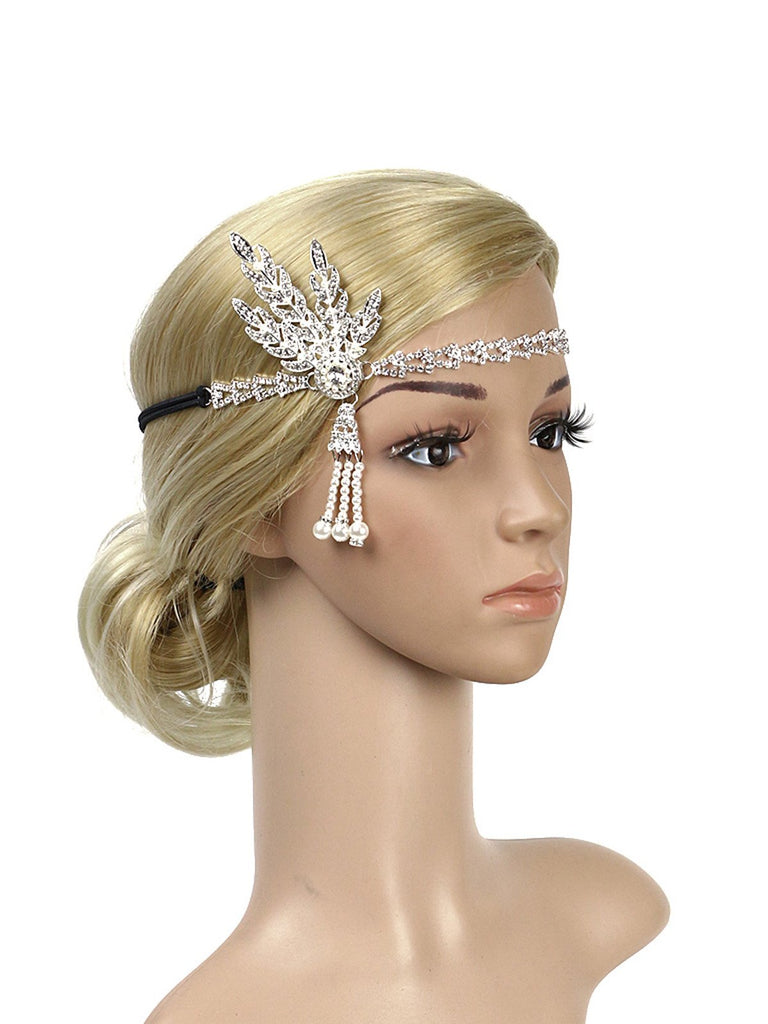 1920s Bandeau Perle Strass
