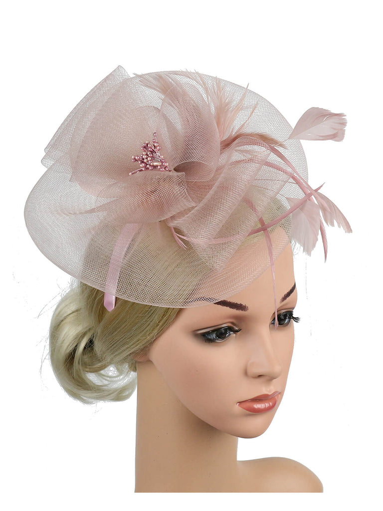 Pince À Cheveux Mesh Cocktail Chapeau Multi-couleur