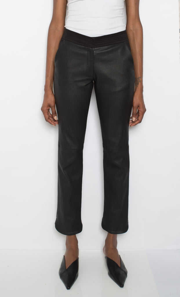 Sawyer Leather Mix Pant (PRE-ORDER ONLY)