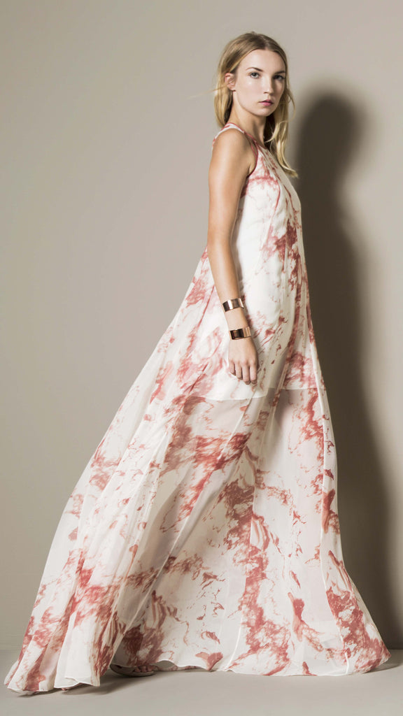 SELENA GOWN - CORAL MARBLE