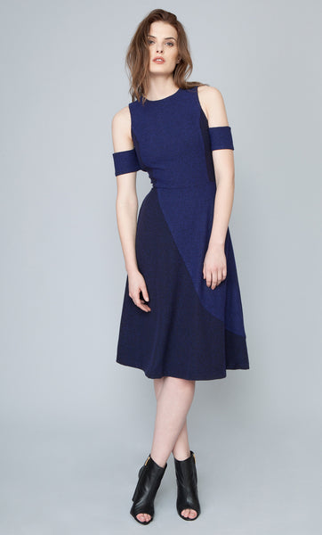 SAHAR KNIT DRESS - INDIGO/NAVY
