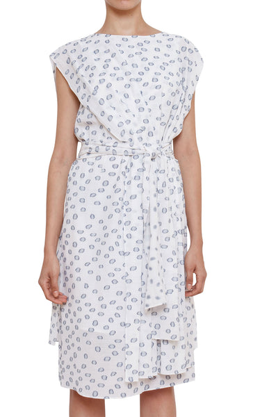 Rhoda Caped Dress - Dot