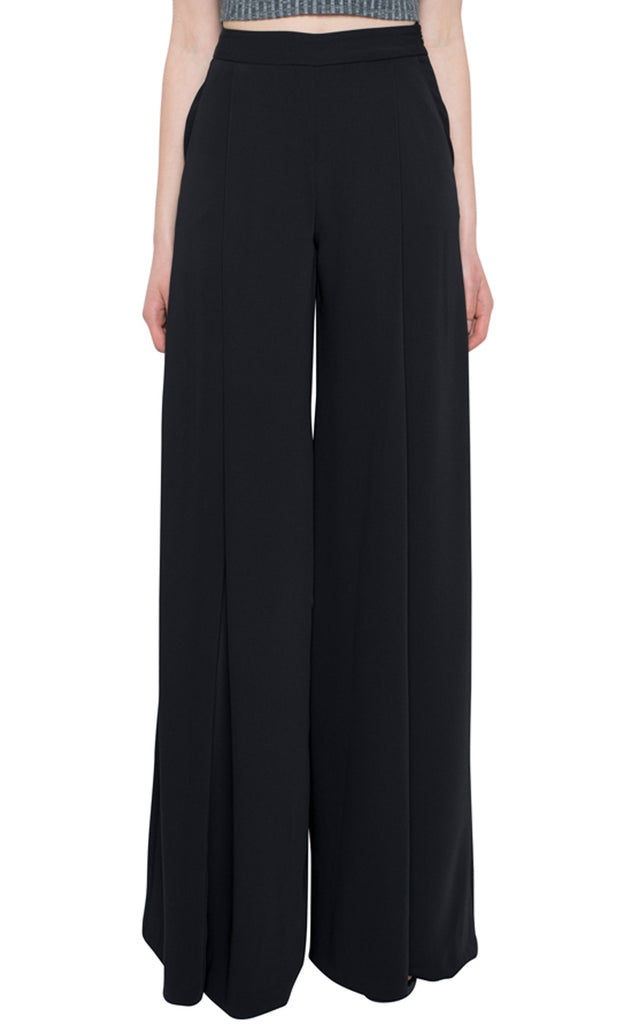 Evelyn Wide Leg Pant - Black