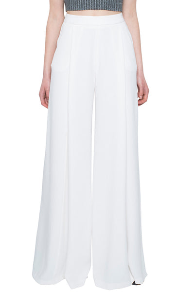 Evelyn Wide Leg Pant - Soft White