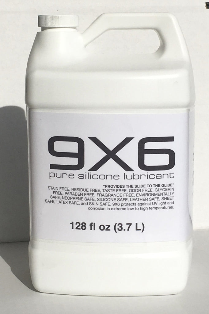 9x6 pure silicone lubricant 128 fl oz 3.7 L bottle