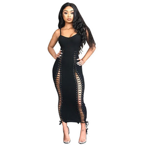 Tie Me up Maxi Dress (Thiick)