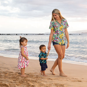 Children's Cosmo shirt in Dragonfly (navy)
