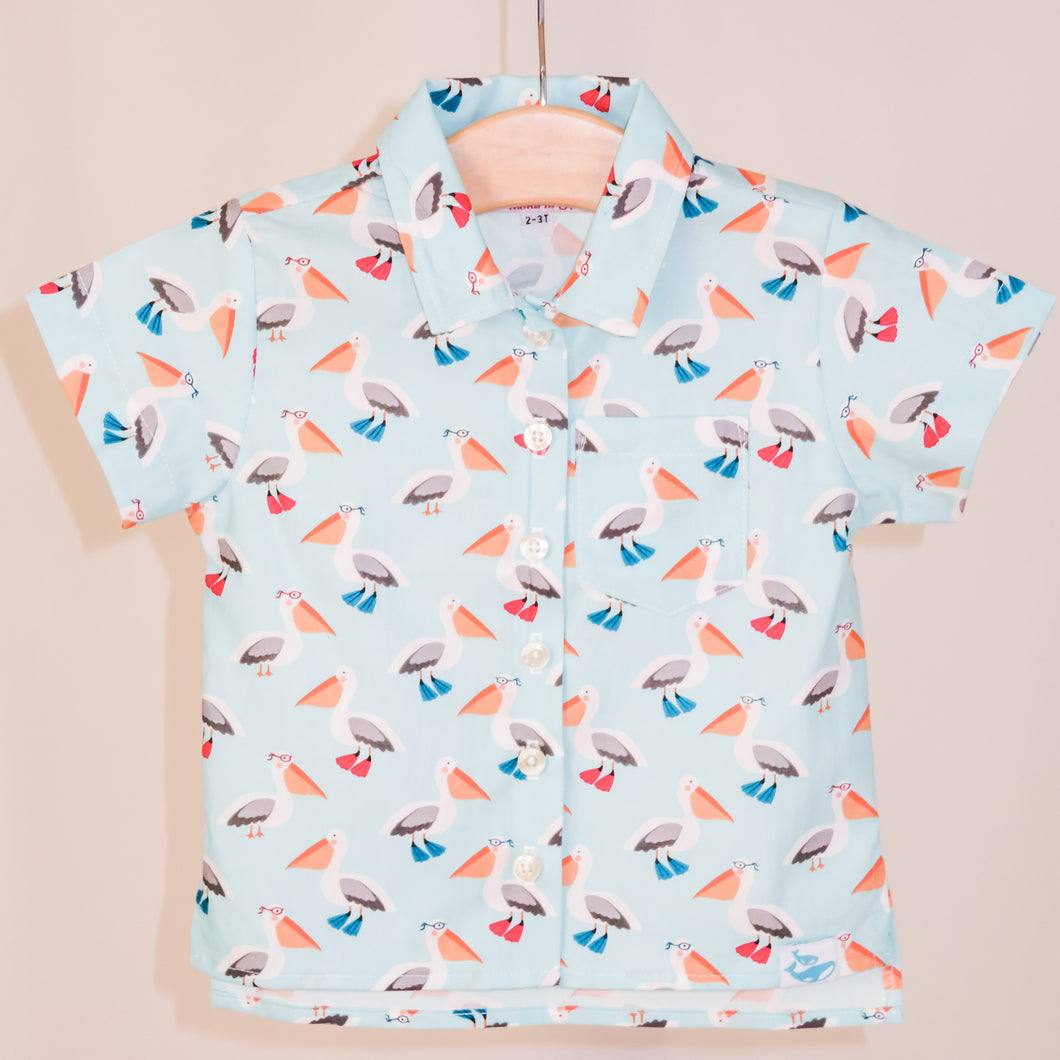Children's Cosmo shirt in Pelicans