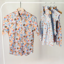 Load image into Gallery viewer, Women's Rancho shirt in Mermaid to Be Friends