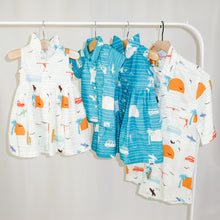 Load image into Gallery viewer, The sleeveless style lets your child play with ease and we even added pockets so your littles can stow away their treasures.