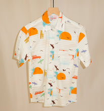 Load image into Gallery viewer, Women's Rancho shirt in Surf's Up (cream)