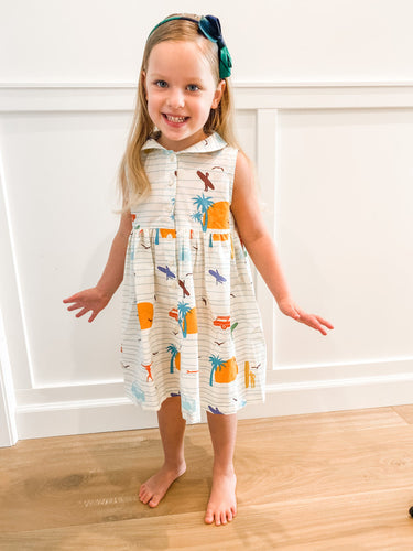 The sleeveless style lets your child play with ease and we even added pockets so your littles can stow away their treasures.
