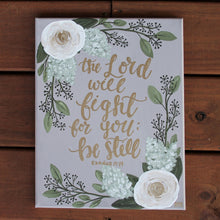 Load image into Gallery viewer, The Lord Will Fight for You - Exodus 14:14, 11x14 Canvas