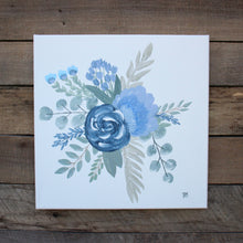 Load image into Gallery viewer, The Garden, Pair of Blues I & II - Genesis 1:11-12, 12x12 Canvas Set