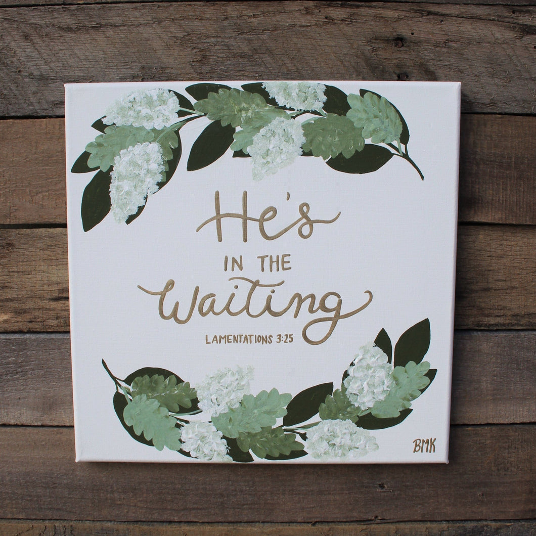 The Waiting - Lamentations 3:25, 12x12 Canvas