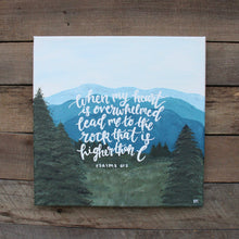 Load image into Gallery viewer, Lead Me to the Rock - Psalm 61:2, 12x12 Canvas
