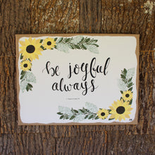 Load image into Gallery viewer, Be Joyful Always - 1 Thessalonians 5:16, 16x20 Burlap Canvas