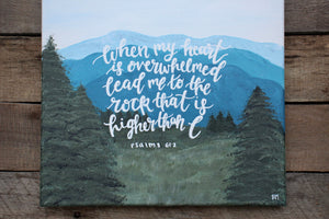 Lead Me to the Rock - Psalm 61:2, 12x12 Canvas