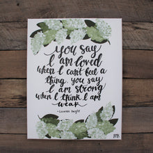 Load image into Gallery viewer, You Say - Lauren Daigle Lyrics, 11x14 Canvas