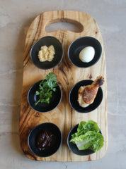 Passover wooden seder plate