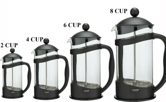 8 Cup Cafetiere - Black