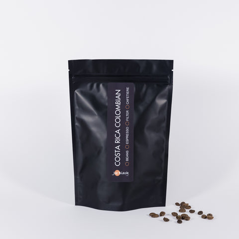 Costa Rica Colombian: An ideal breakfast coffee with a bright zesty flavour, slight acidity and a lot of body