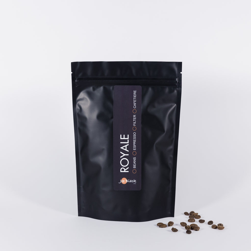 Royale freshly roasted coffee joe black coffee