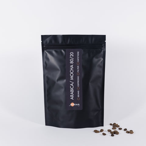 Arabica Mocha: A creamy, chocolate bodied coffee with a rich fruity flavour and winey undertones