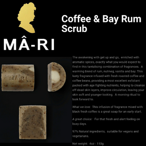 MA-RI Coffee & Bay Rum Bidy Scrub