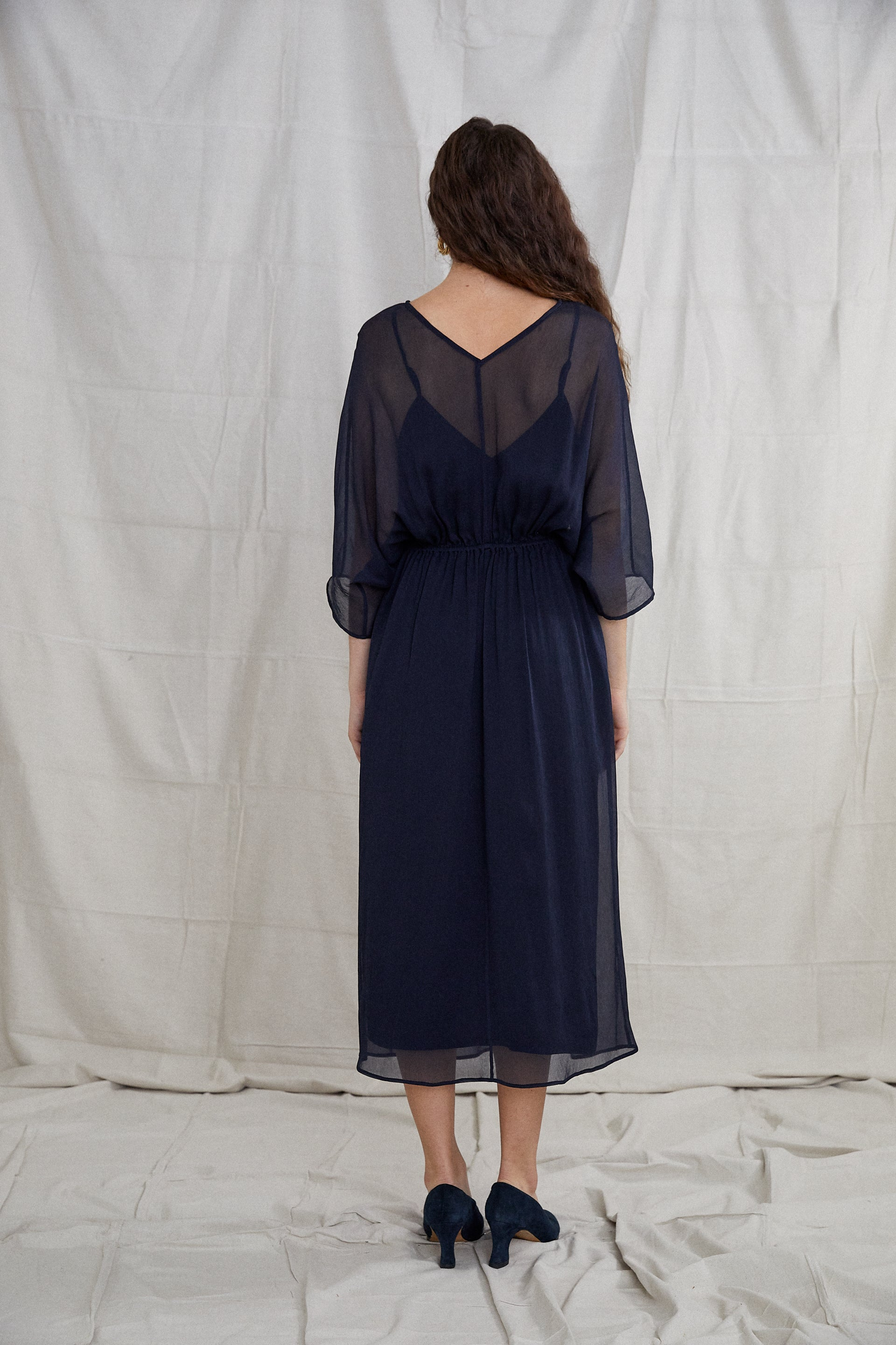 Vaya Dress - Indigo Silk