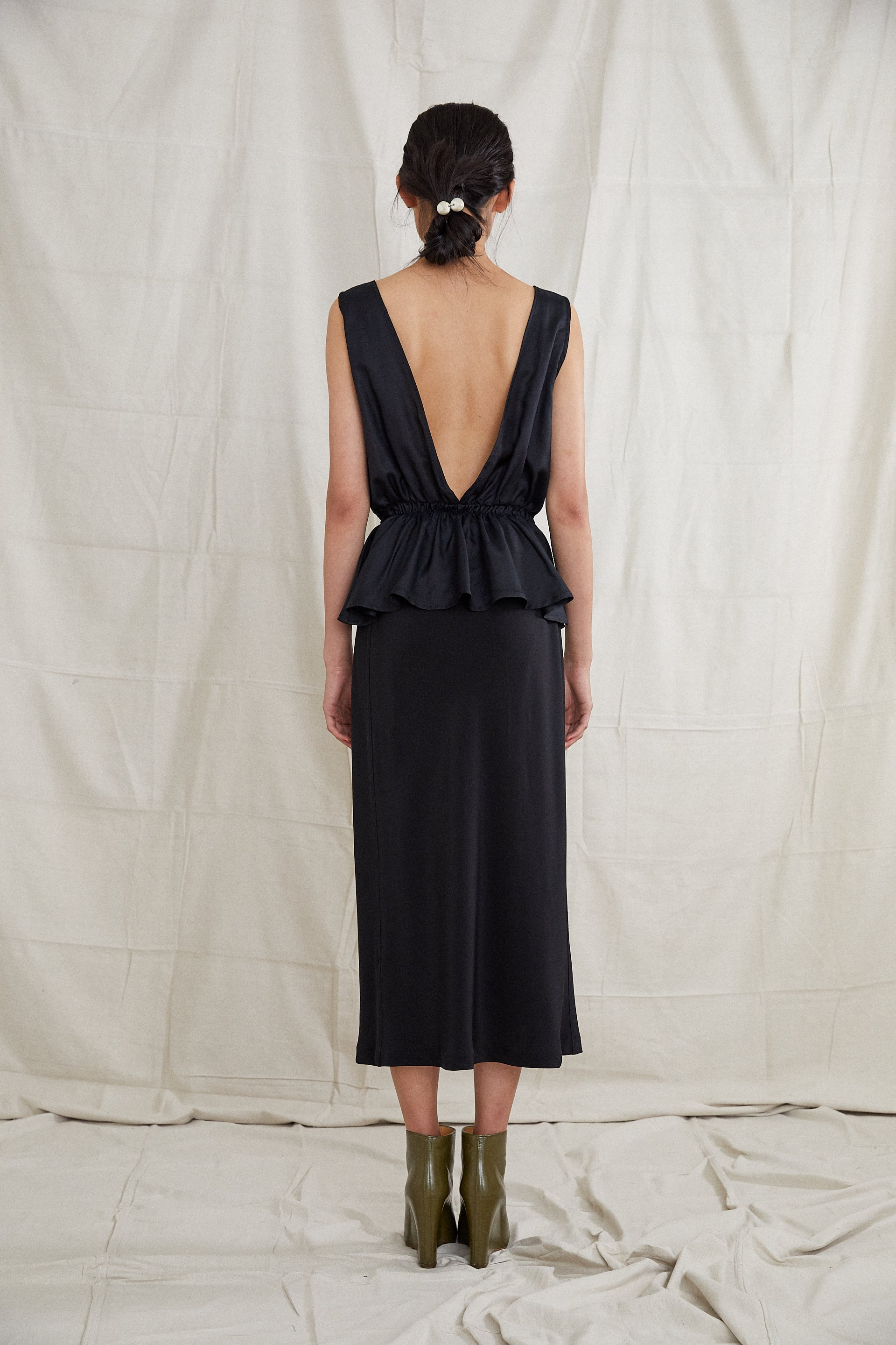 Harbin Skirt - Onyx Silk