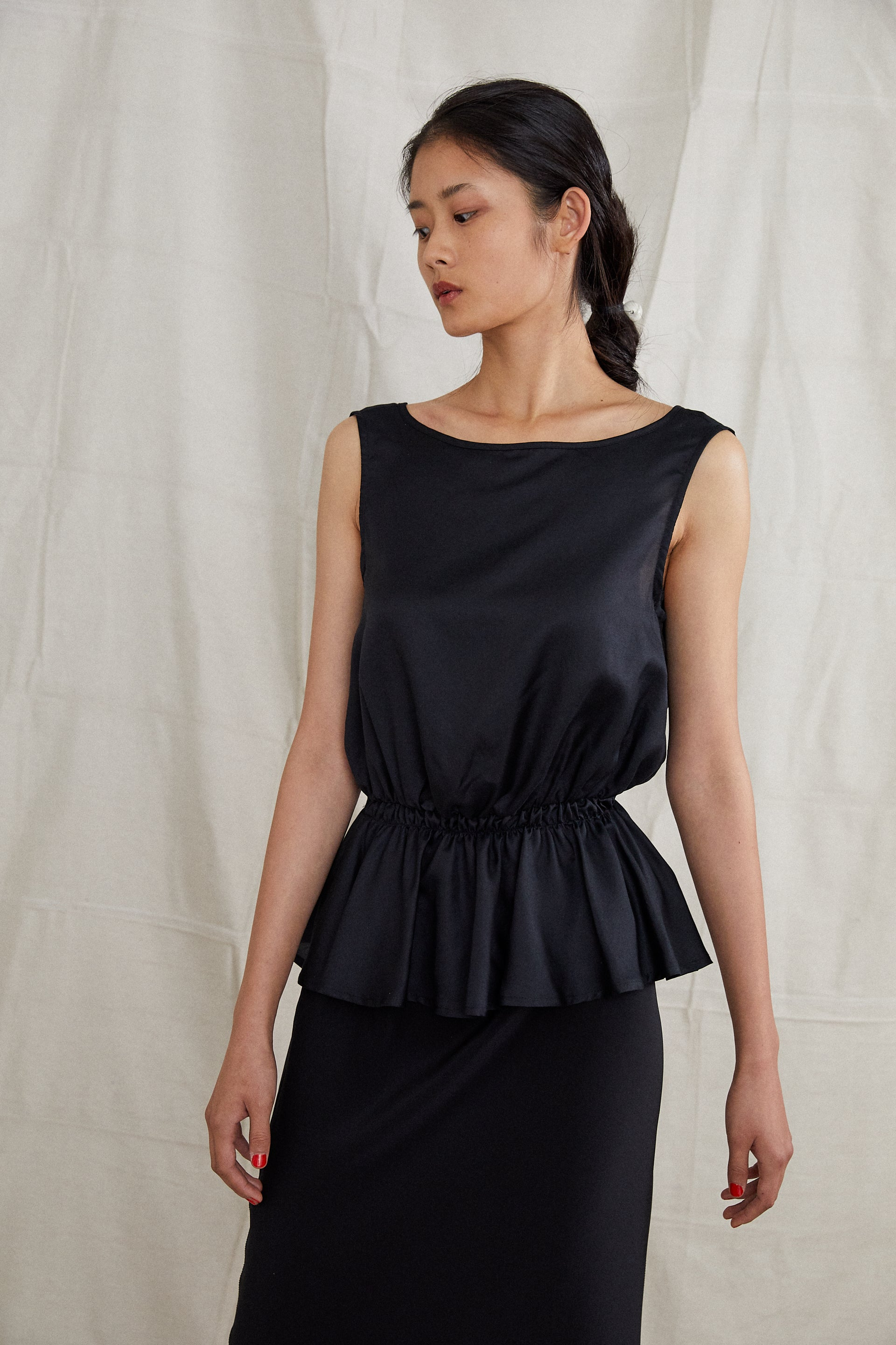 Harbin Top - Onyx Silk