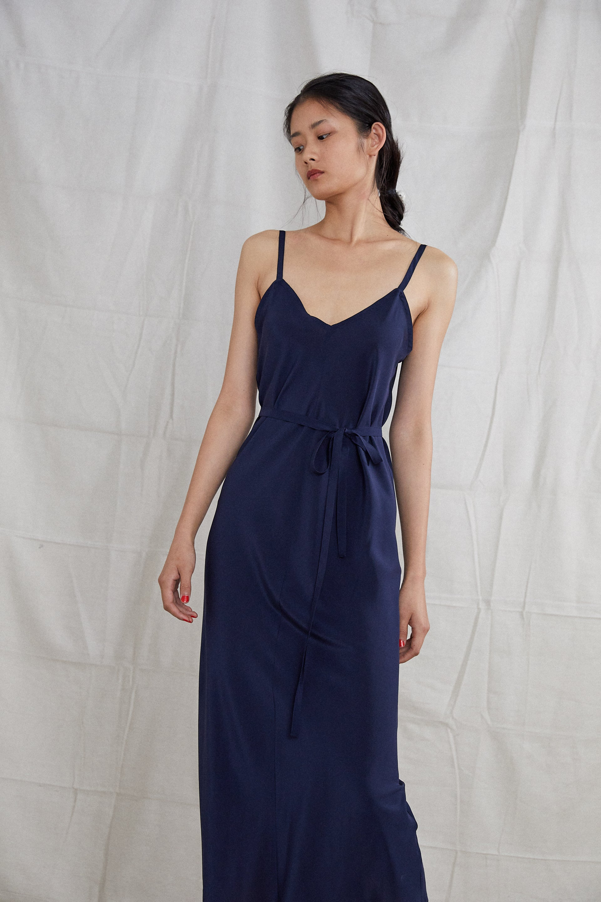 Elem Dress - Indigo Silk