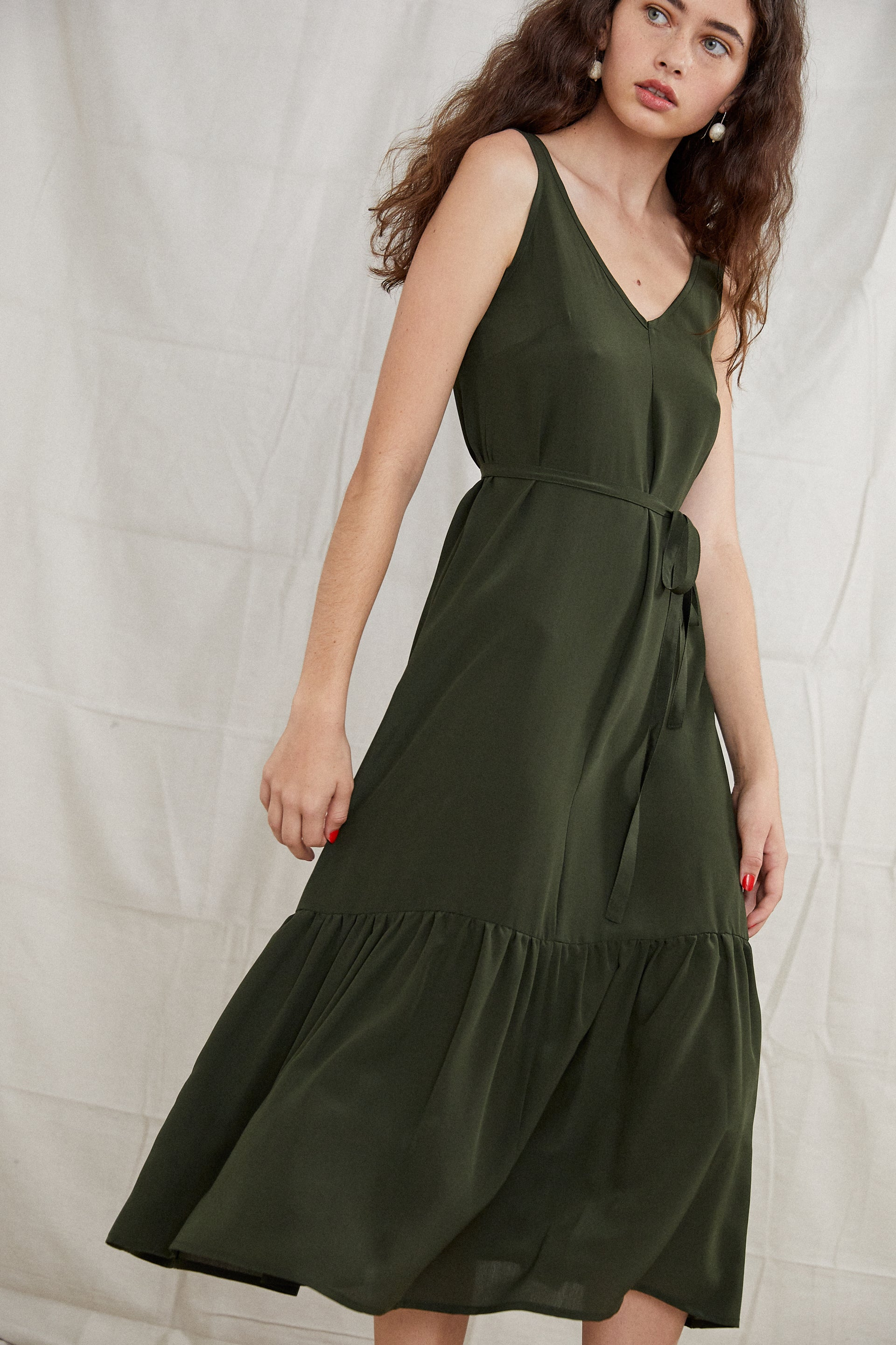 Bell Dress - Forest Silk