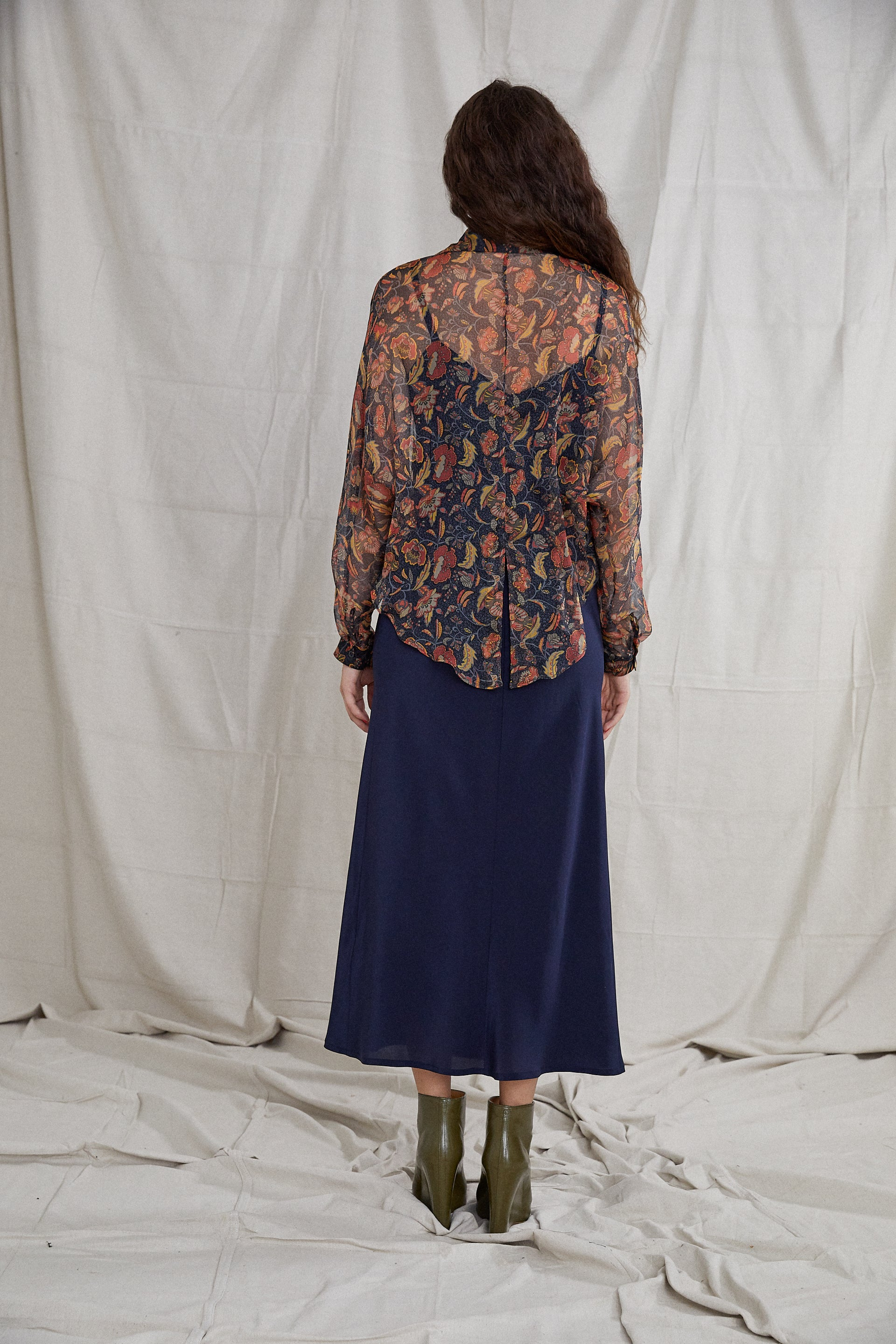 Segdah Shirt - Poppy Silk Georgette