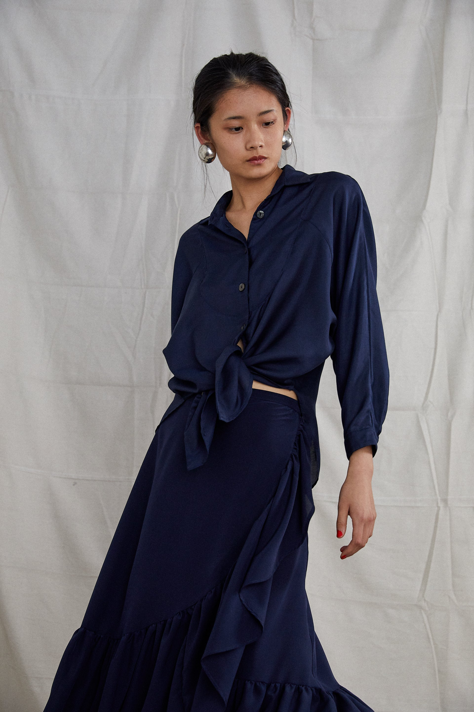 Segdah Shirt - Indigo Cotton Silk