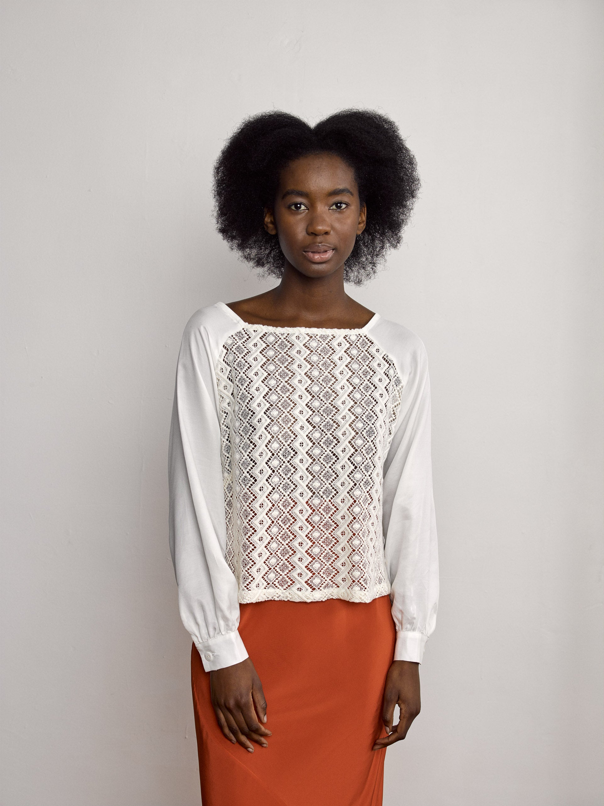 Ovin Top - Ivory Cotton/Silk