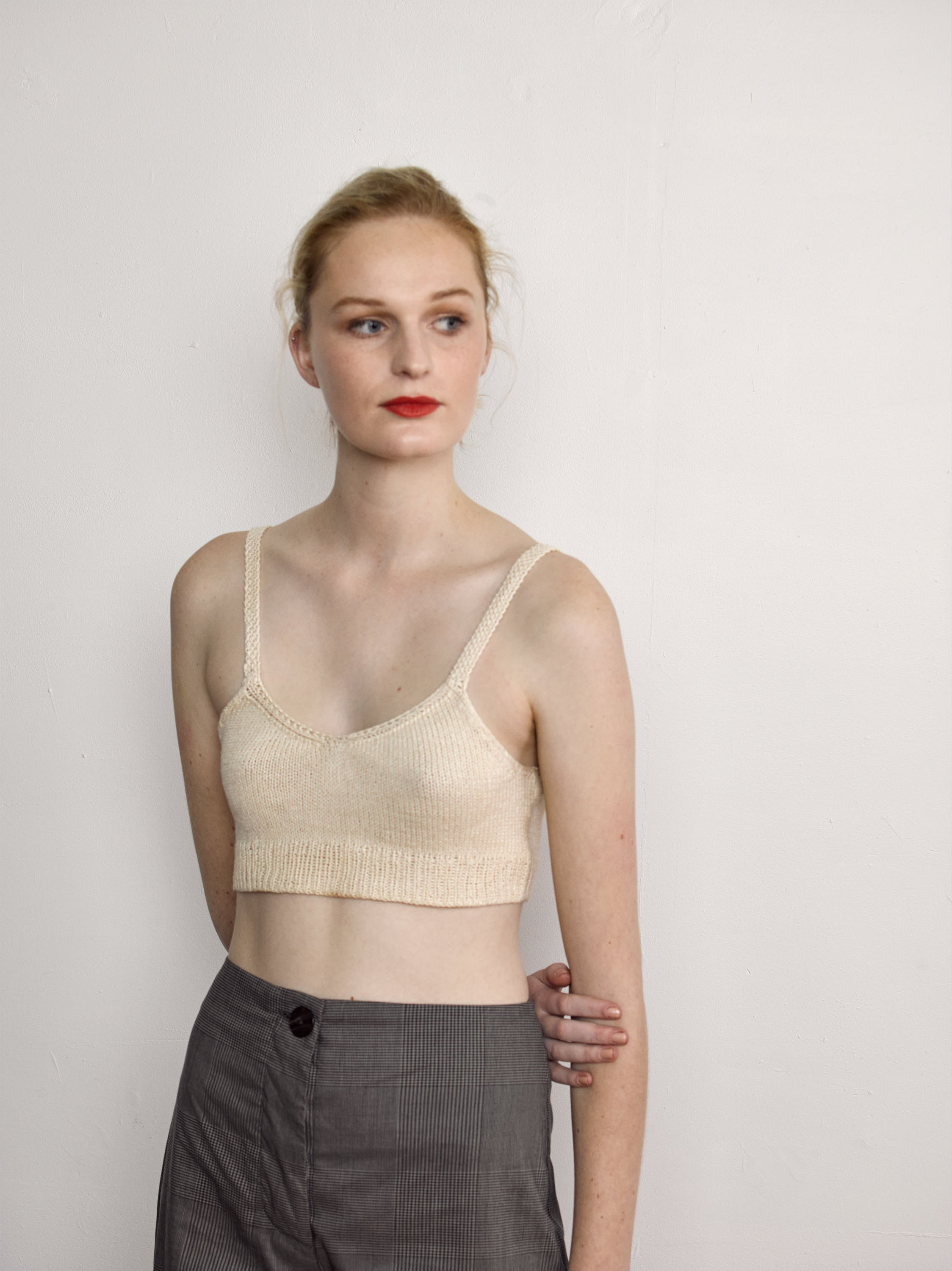 Roshlo Crop - Toi Toi Silk Cotton Hand Knit