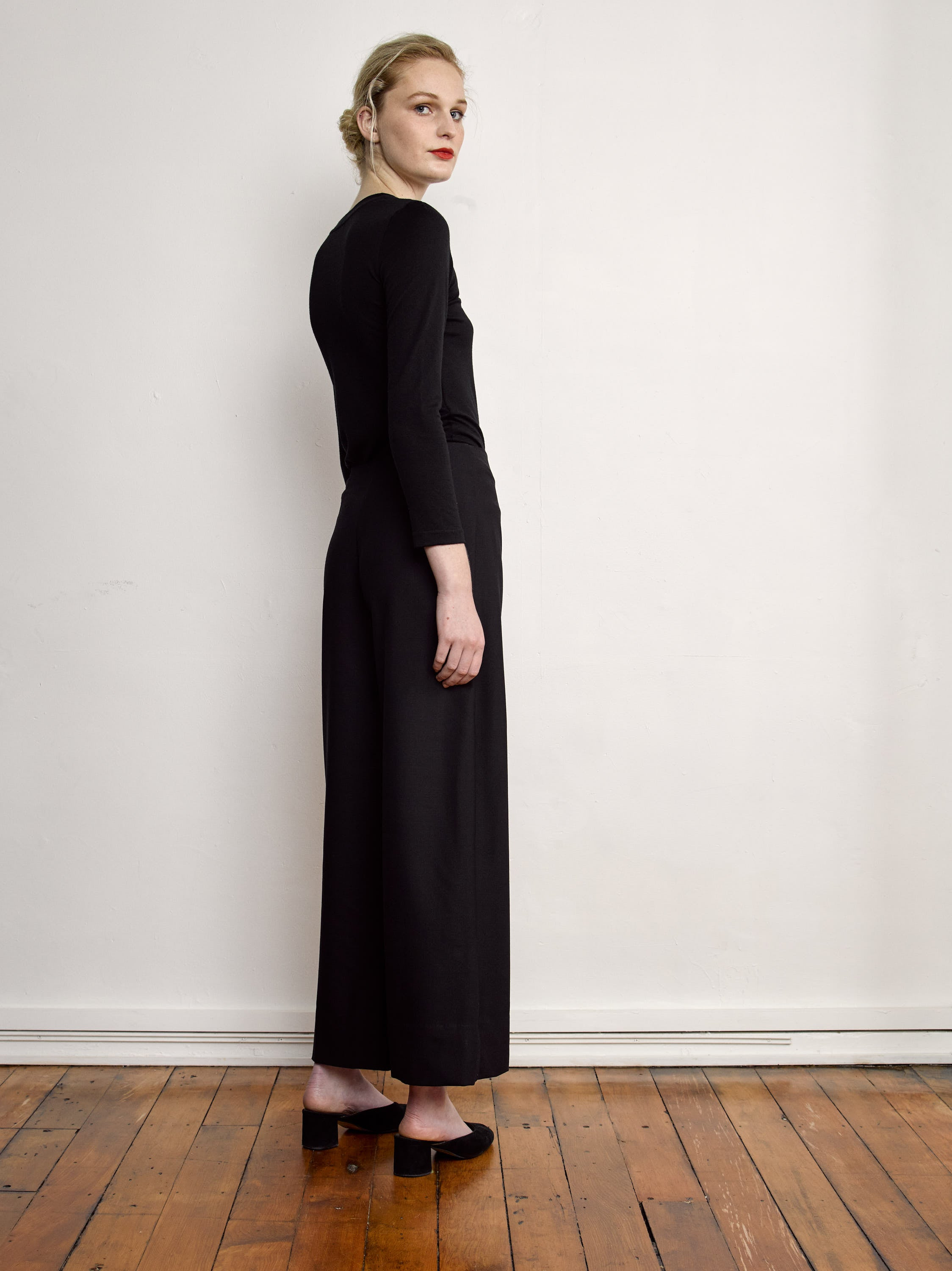 Ya Pant - Black Wool Suiting