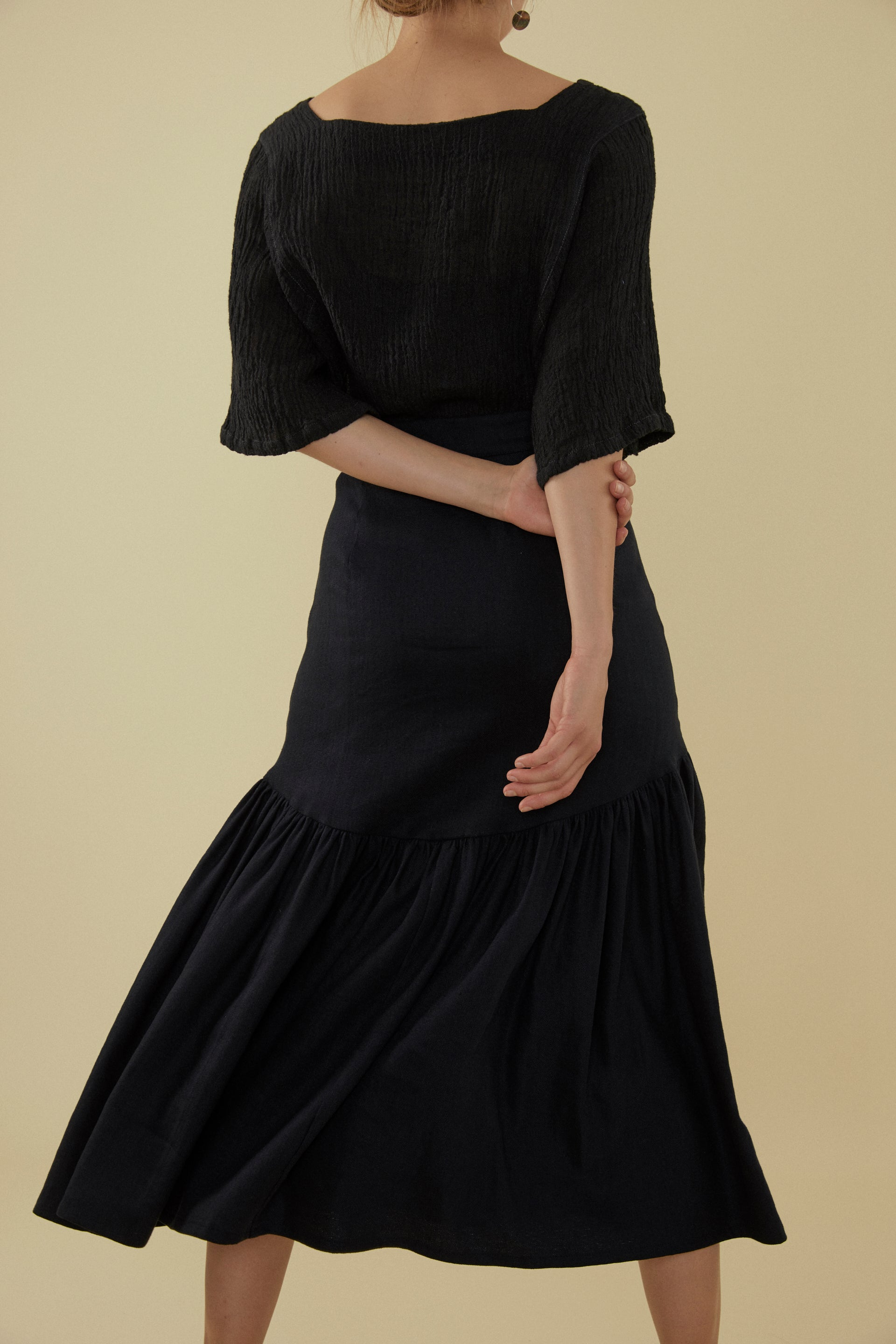 Bell Skirt - Shadow Linen Tencel