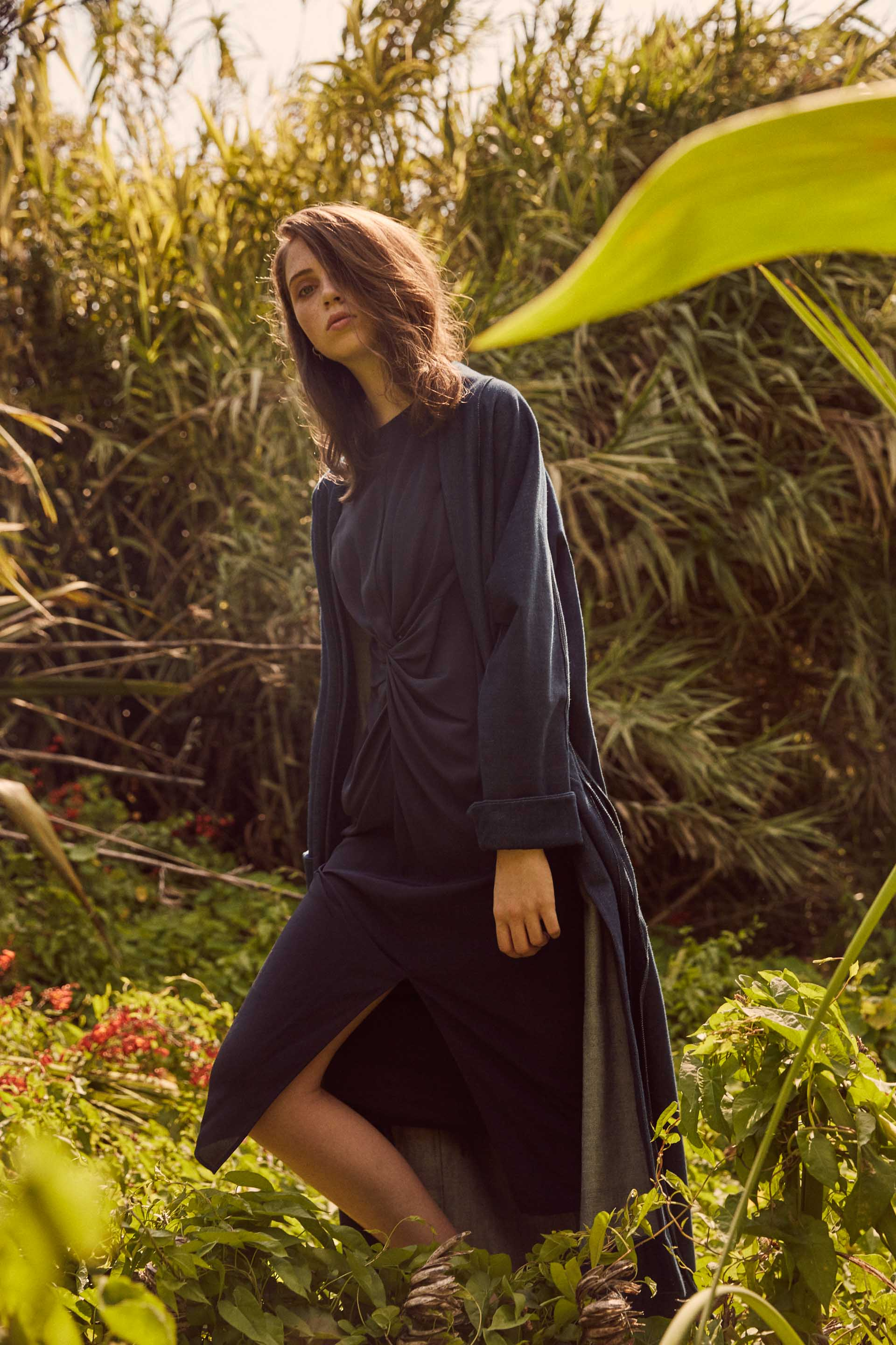 Otvet Dress - Indigo Silk