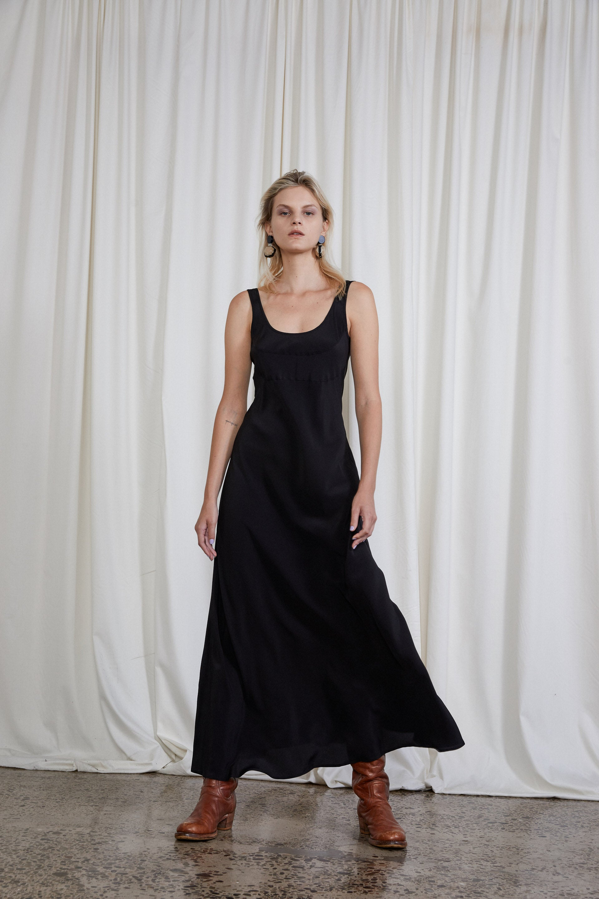 4th Wave Dress - Onyx Silk Crepe