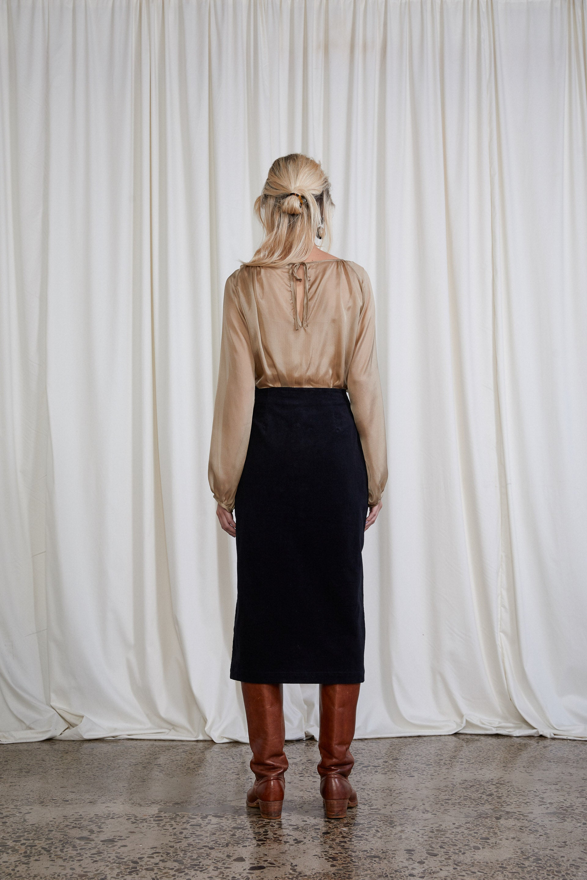 Saskia Skirt - Onyx Organic Cotton