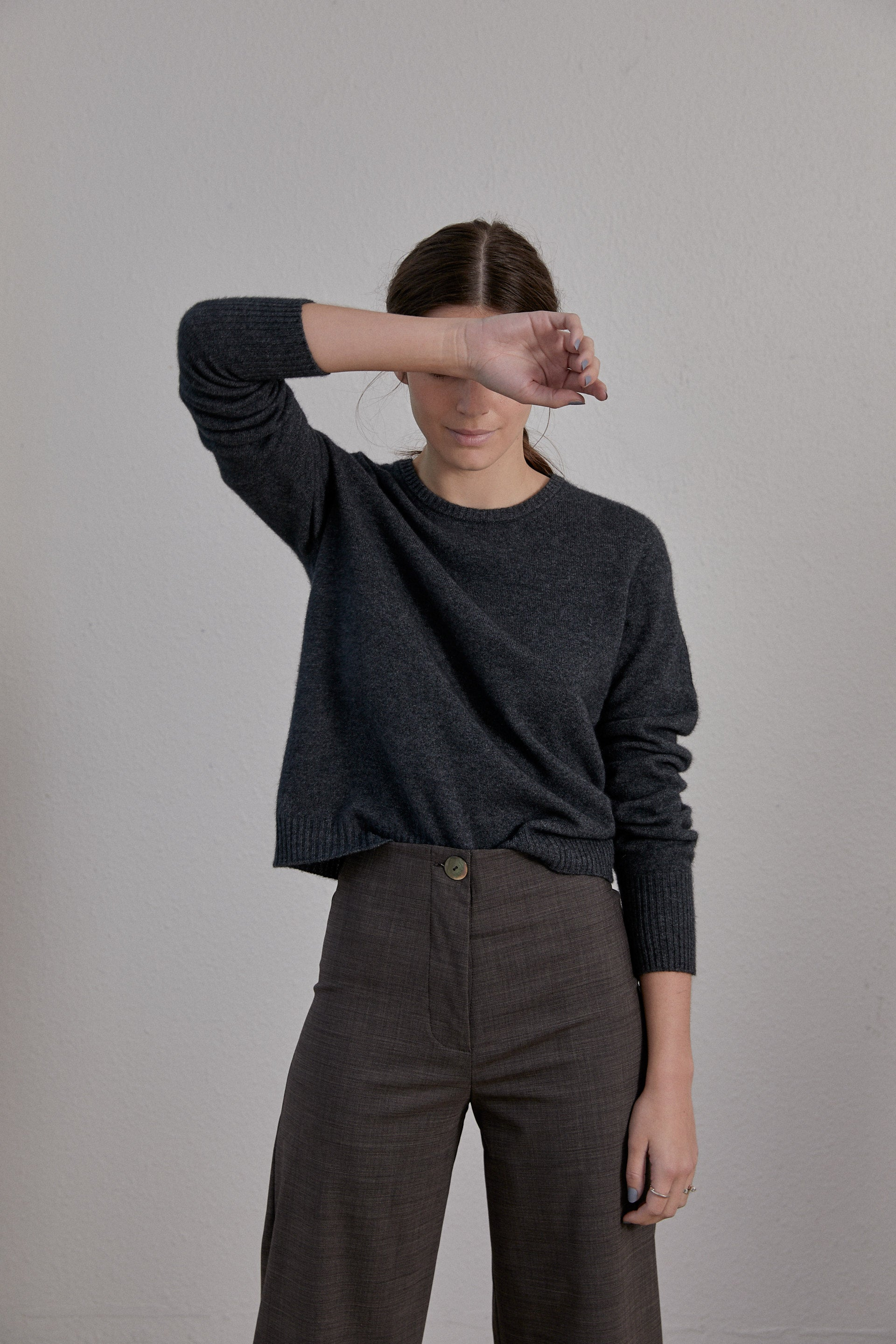 Kom Jumper - Charcoal Possum Merino