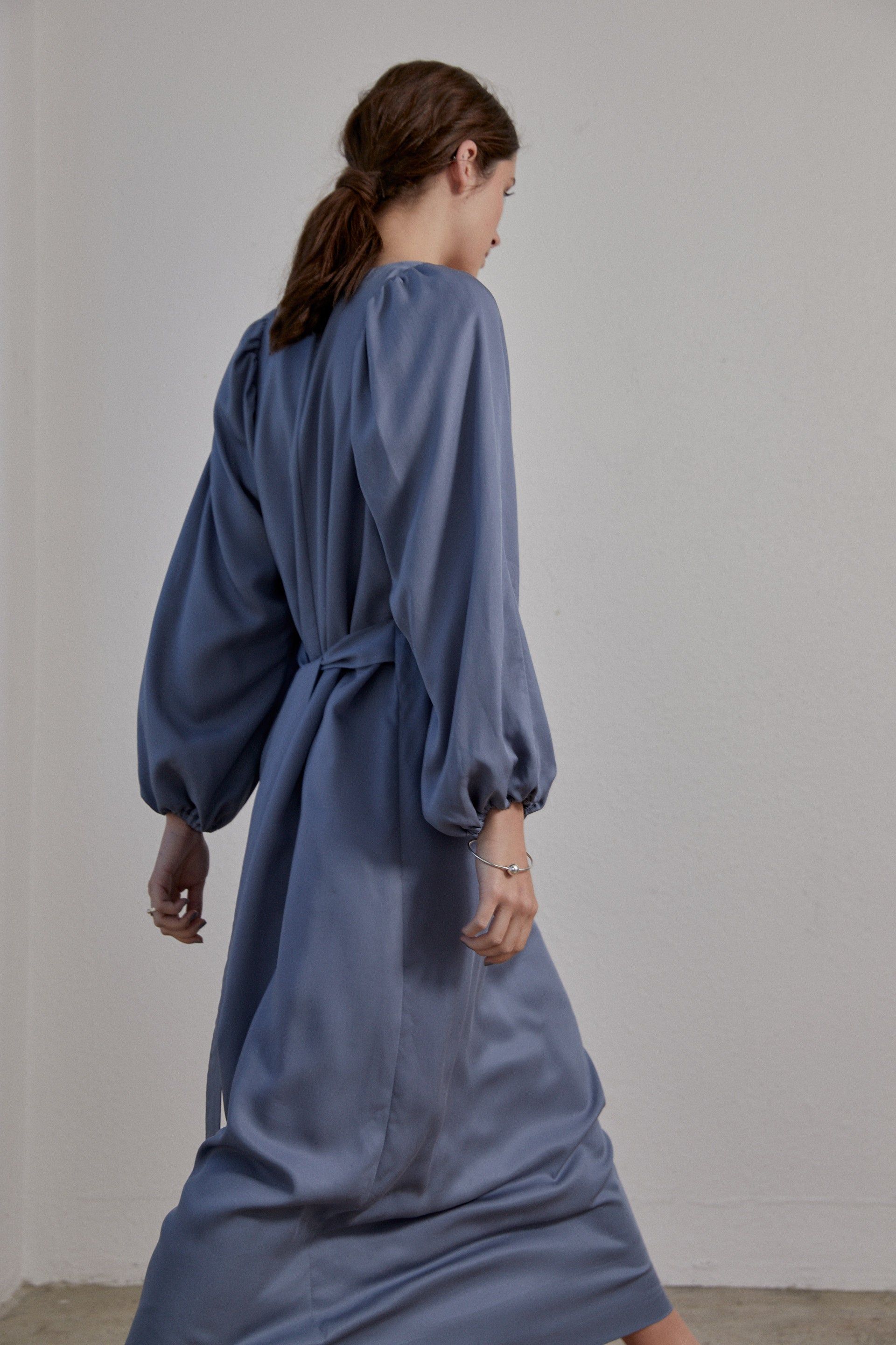 Isadora Dress - Smokey Blue