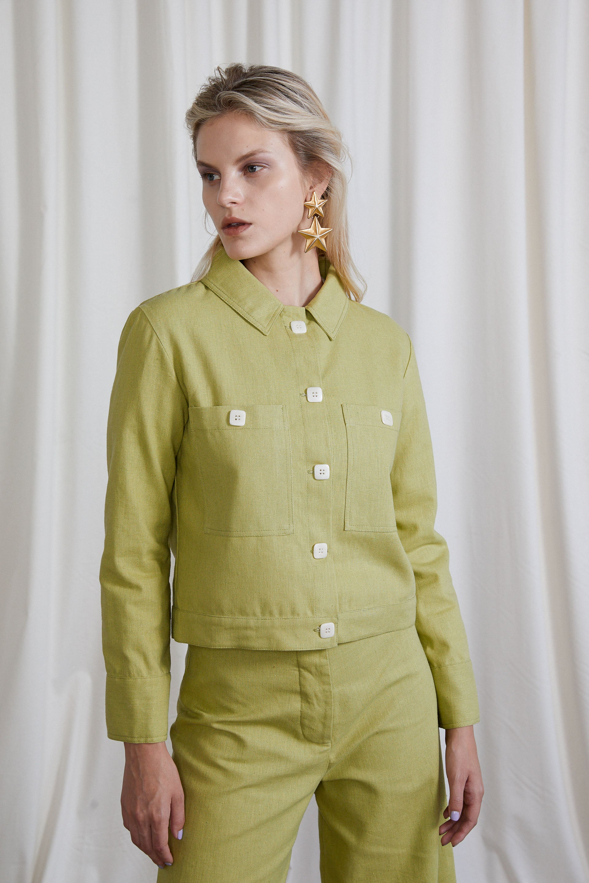 Marlene Jacket - Avocado Hemp Organic Cotton