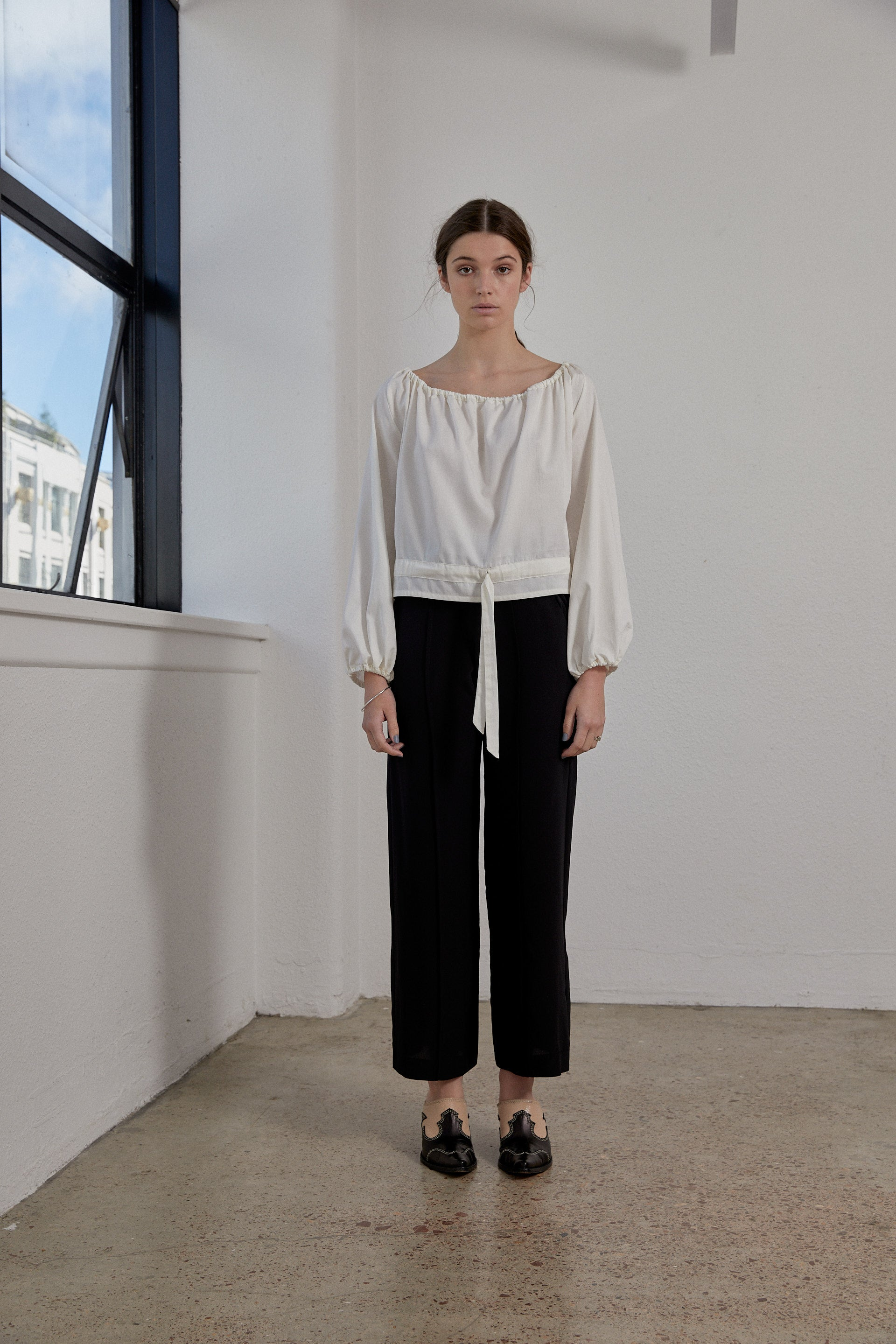Eleanor Pant - Onyx Silk Crepe